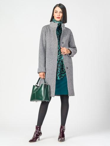 Текстильное пальто 30%шерсть, 70% п.э, цвет серый, арт. 14108193  - цена 3590 руб.  - магазин TOTOGROUP