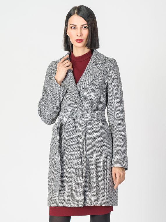 Текстильное пальто 30%шерсть, 70% п.э, цвет серый, арт. 14108194  - цена 3990 руб.  - магазин TOTOGROUP