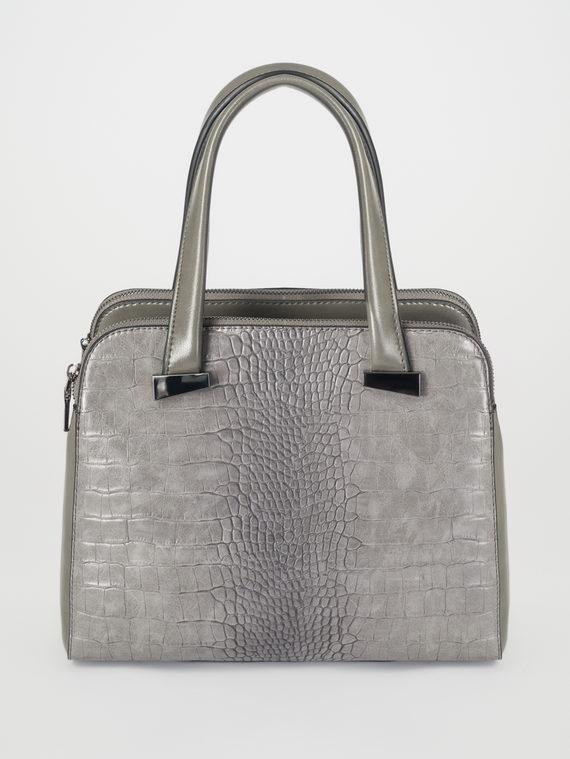Сумка эко-кожа 100% П/А, цвет серый, арт. 14108243  - цена 2840 руб.  - магазин TOTOGROUP