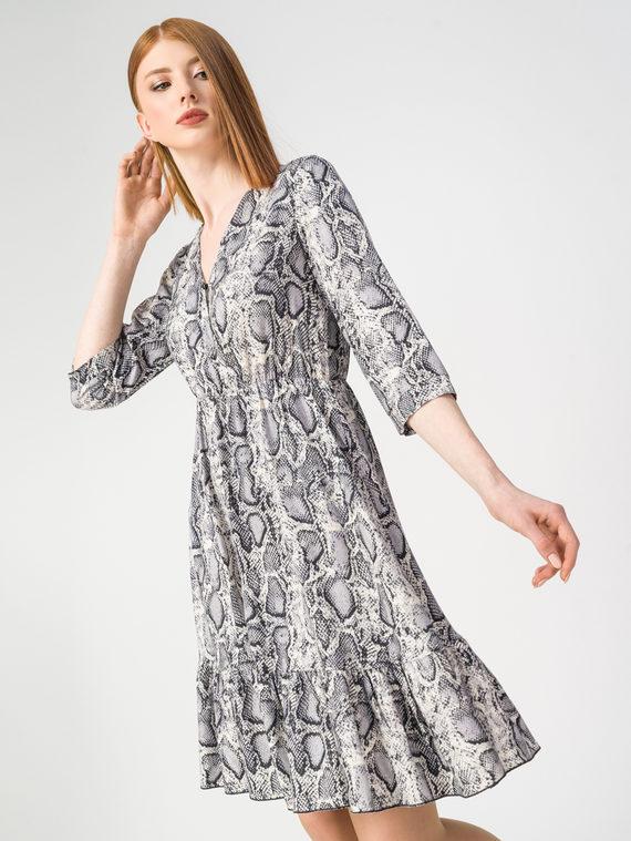 Платье 100% вискоза, цвет серый, арт. 14108351  - цена 3590 руб.  - магазин TOTOGROUP