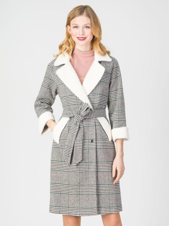 Текстильное пальто 30%шерсть, 70% п.э, цвет серый, арт. 14108373  - цена 4740 руб.  - магазин TOTOGROUP