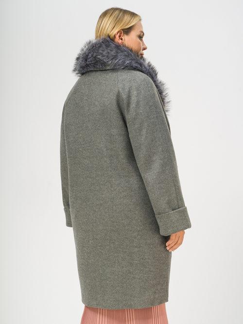 Текстильное пальто артикул 14109100/52 - фото 3