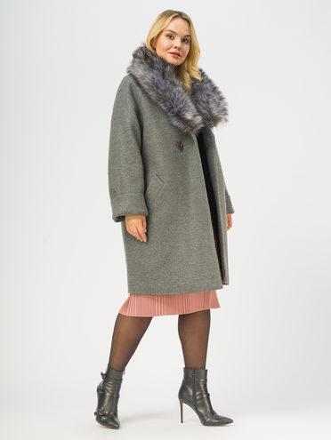 Текстильное пальто 35% шерсть, 65% полиэстер, цвет серый, арт. 14109100  - цена 6990 руб.  - магазин TOTOGROUP