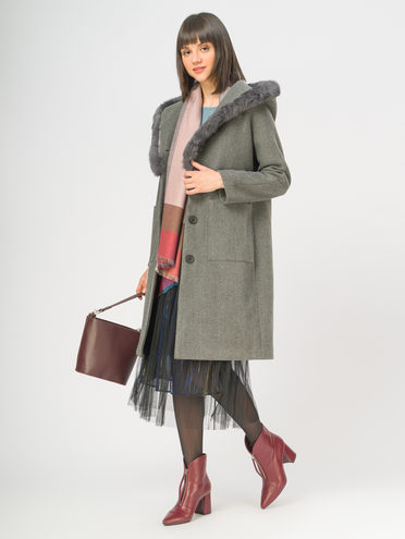 Текстильное пальто 35% шерсть, 65% полиэстер, цвет серый, арт. 14109128  - цена 3590 руб.  - магазин TOTOGROUP
