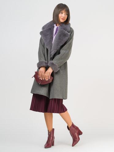 Текстильное пальто 35% шерсть, 65% полиэстер, цвет серый, арт. 14109134  - цена 5890 руб.  - магазин TOTOGROUP