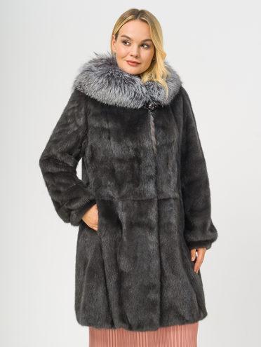Шуба из норки мех норка, цвет серый, арт. 14109172  - цена 84990 руб.  - магазин TOTOGROUP