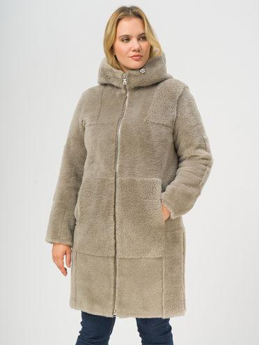 Шуба из эко-меха эко мех шерсть 100%, цвет серый, арт. 14109200  - цена 22690 руб.  - магазин TOTOGROUP