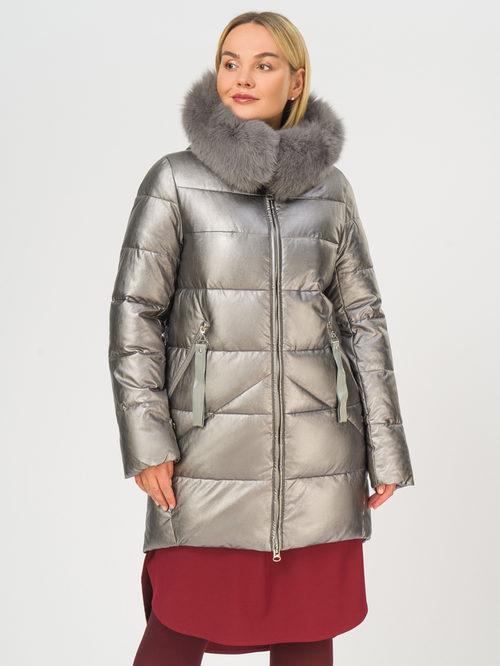 Кожаное пальто артикул 14109242/48 - фото 2