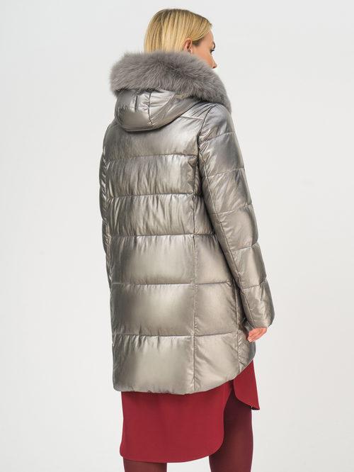 Кожаное пальто артикул 14109242/48 - фото 3