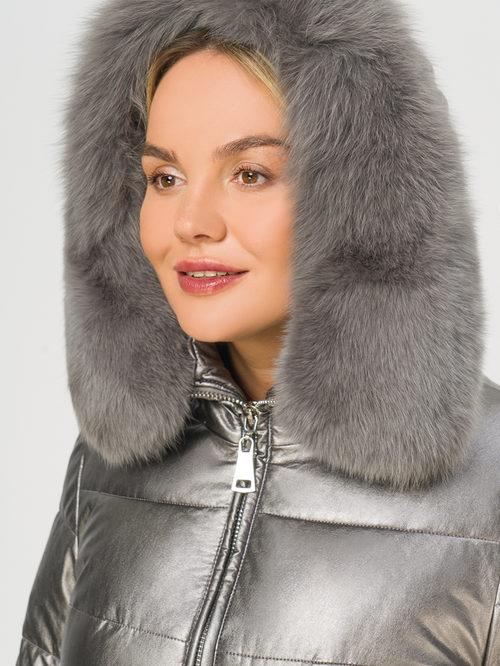 Кожаное пальто артикул 14109242/48 - фото 4
