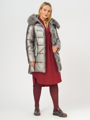 Кожаное пальто эко-кожа 100% П/А, цвет серый, арт. 14109242  - цена 8490 руб.  - магазин TOTOGROUP