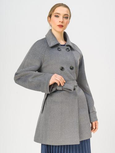 Текстильное пальто 30% шерсть, 70% п.э, цвет серый, арт. 14109251  - цена 3990 руб.  - магазин TOTOGROUP