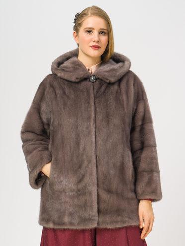 Шуба из норки мех норка, цвет серый, арт. 14109327  - цена 94990 руб.  - магазин TOTOGROUP