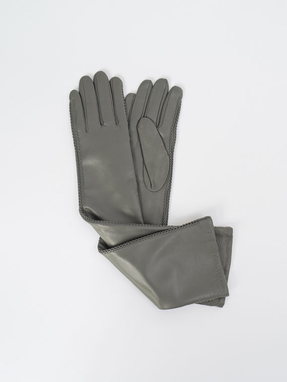 Перчатки кожа, цвет серый, арт. 14109410  - цена 2840 руб.  - магазин TOTOGROUP