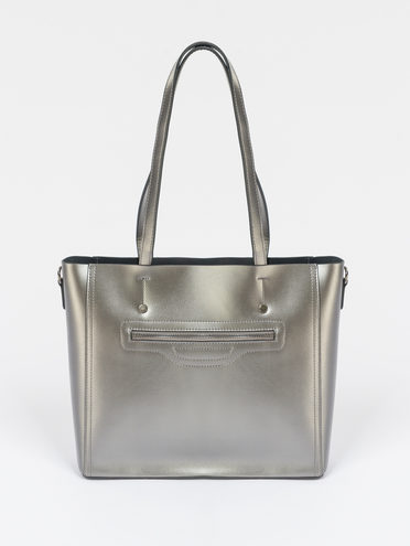 Сумка кожа теленок, цвет серый, арт. 14109521  - цена 5590 руб.  - магазин TOTOGROUP