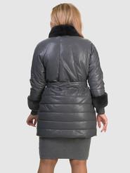 Кожаное пальто артикул 14601941/48 - фото 4