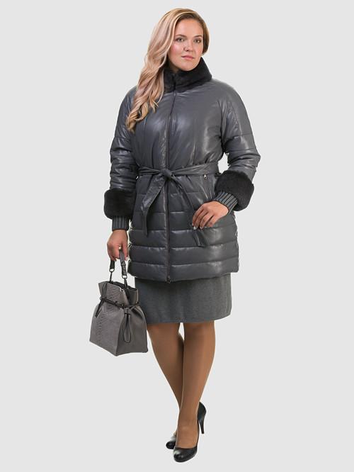 Кожаное пальто артикул 14601941/48