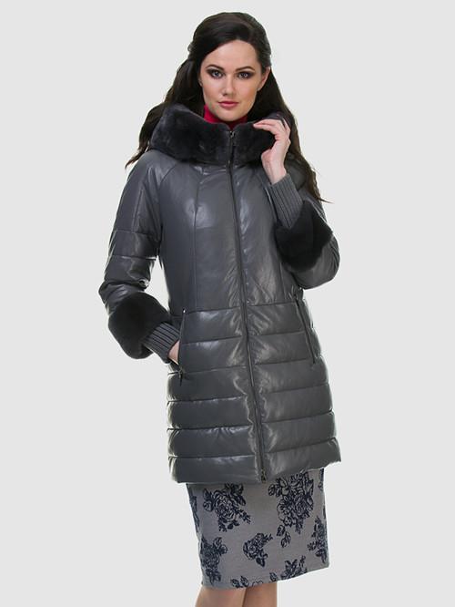 Кожаное пальто артикул 14601942/42 - фото 2