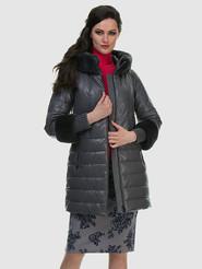Кожаное пальто артикул 14601942/42 - фото 3