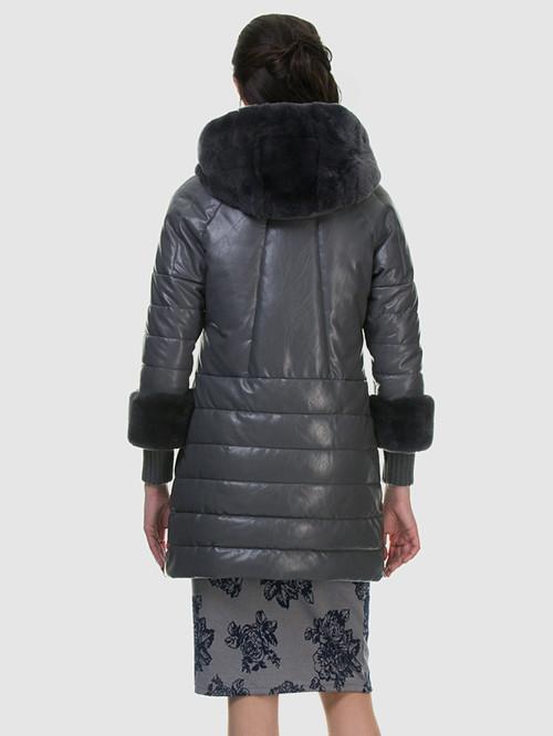 Кожаное пальто артикул 14601942/42 - фото 4