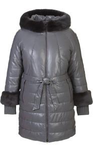 Кожаное пальто артикул 14601942/42 - фото 5
