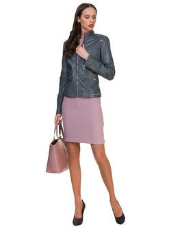 Кожаная куртка кожа овца, цвет серый, арт. 14700057  - цена 12690 руб.  - магазин TOTOGROUP