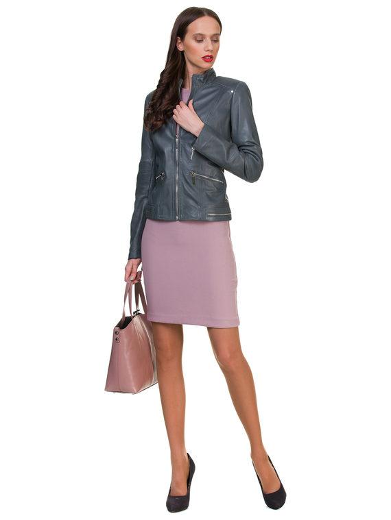 Кожаная куртка кожа , цвет серый, арт. 14700057  - цена 12690 руб.  - магазин TOTOGROUP