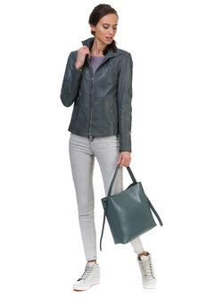 Кожаная куртка кожа овца, цвет серый, арт. 14700102  - цена 13990 руб.  - магазин TOTOGROUP