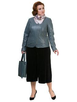 Кожаная куртка кожа овца, цвет серый, арт. 14700105  - цена 13990 руб.  - магазин TOTOGROUP