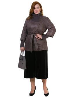 Кожаная куртка эко кожа замша 100% П/А, цвет серый, арт. 14700137  - цена 7990 руб.  - магазин TOTOGROUP