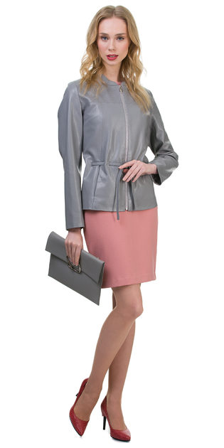 Кожаная куртка эко кожа 100% П/А, цвет серый, арт. 14700157  - цена 5990 руб.  - магазин TOTOGROUP