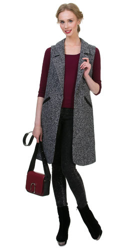 Текстильное пальто 30%шерсть, 70% п\а, цвет серый, арт. 14700410  - цена 3192 руб.  - магазин TOTOGROUP