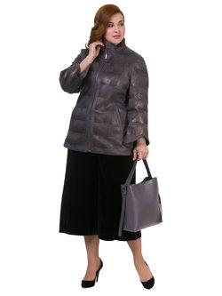 Кожаная куртка эко кожа 100% П/А, цвет серый, арт. 14700523  - цена 9490 руб.  - магазин TOTOGROUP