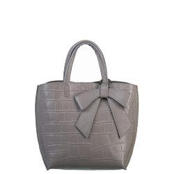 Сумка кожа, цвет серый, арт. 14700537  - цена 5290 руб.  - магазин TOTOGROUP