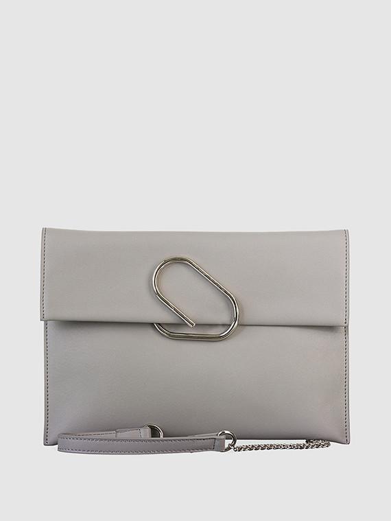 Сумка кожа теленок, цвет серый, арт. 14700563  - цена 2990 руб.  - магазин TOTOGROUP