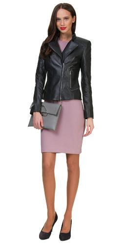 Кожаная куртка кожа овца, цвет серый, арт. 14700595  - цена 12990 руб.  - магазин TOTOGROUP