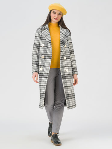 Текстильное пальто 35% шерсть, 65% полиэстер, цвет серый, арт. 14711390  - цена 5890 руб.  - магазин TOTOGROUP