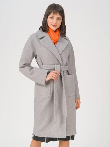 Текстильное пальто 35% шерсть, 65% полиэстер, цвет серый, арт. 14711410  - цена 5890 руб.  - магазин TOTOGROUP