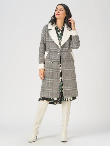 Текстильное пальто 35% шерсть, 65% полиэстер, цвет серый, арт. 14711419  - цена 4990 руб.  - магазин TOTOGROUP