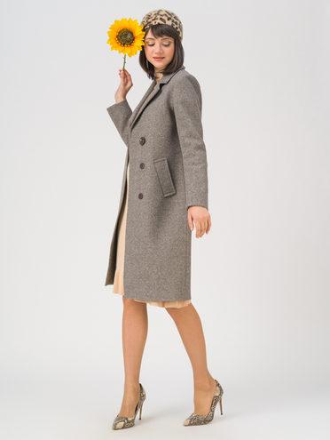 Текстильное пальто 65% хлопок , 35% полиэстер, цвет серый, арт. 14711431  - цена 7490 руб.  - магазин TOTOGROUP