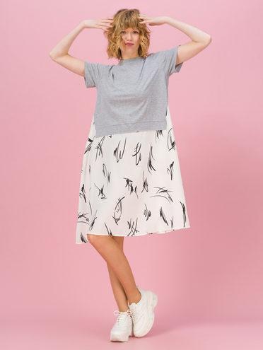 Женское платье 70% хлопок, 30% полиэстер, цвет серый, арт. 14711707  - цена 1660 руб.  - магазин TOTOGROUP
