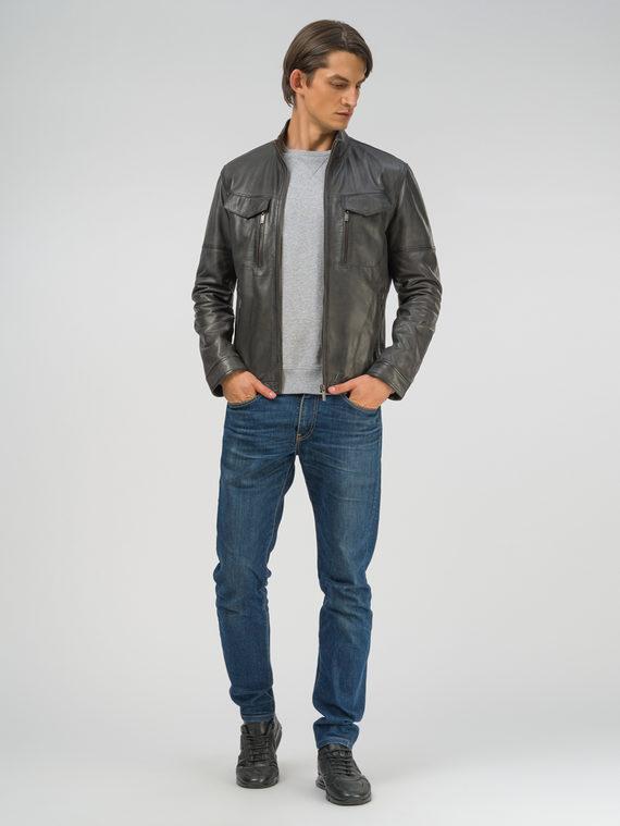Кожаная куртка кожа, цвет серый, арт. 14809208  - цена 15990 руб.  - магазин TOTOGROUP