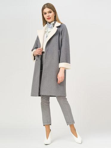 Текстильное пальто 35% шерсть, 65% полиэстер, цвет серый, арт. 14809965  - цена 6630 руб.  - магазин TOTOGROUP
