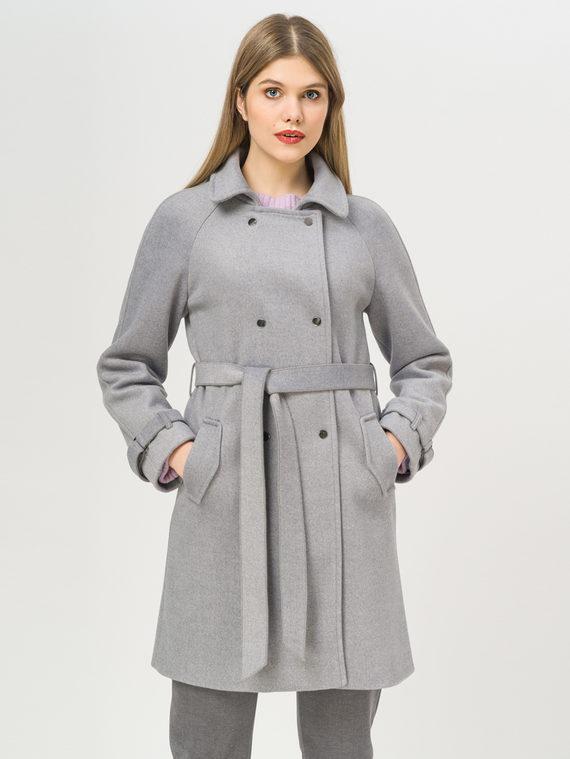 Текстильное пальто 35% шерсть, 65% полиэстер, цвет серый, арт. 14809967  - цена 3990 руб.  - магазин TOTOGROUP