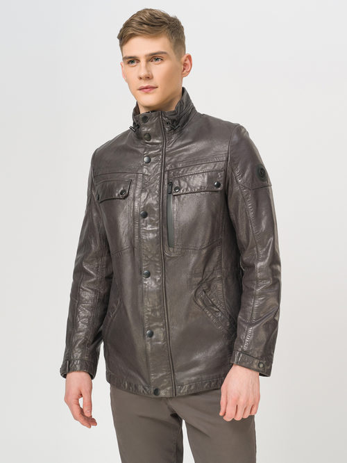 Кожаная куртка артикул 14809987/48 - фото 2