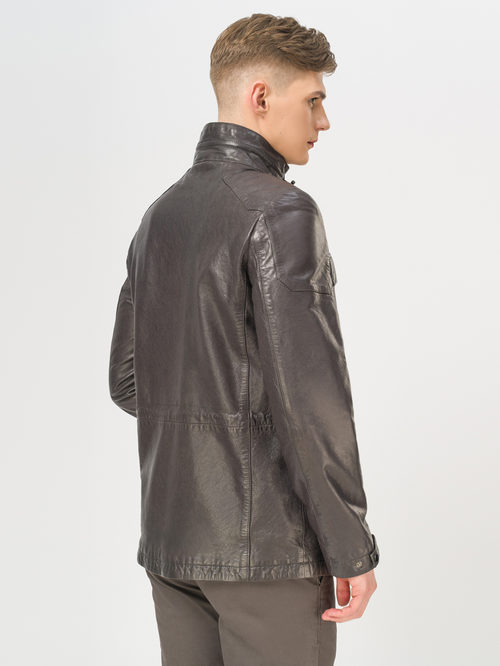 Кожаная куртка артикул 14809987/48 - фото 3