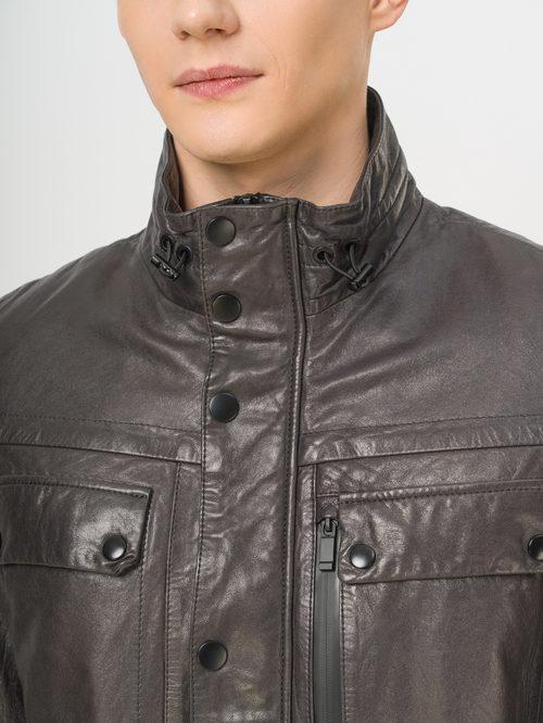 Кожаная куртка артикул 14809987/48 - фото 4