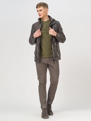 Кожаная куртка кожа, цвет серый, арт. 14809987  - цена 19990 руб.  - магазин TOTOGROUP