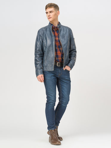 Кожаная куртка кожа, цвет серый, арт. 14809989  - цена 14990 руб.  - магазин TOTOGROUP