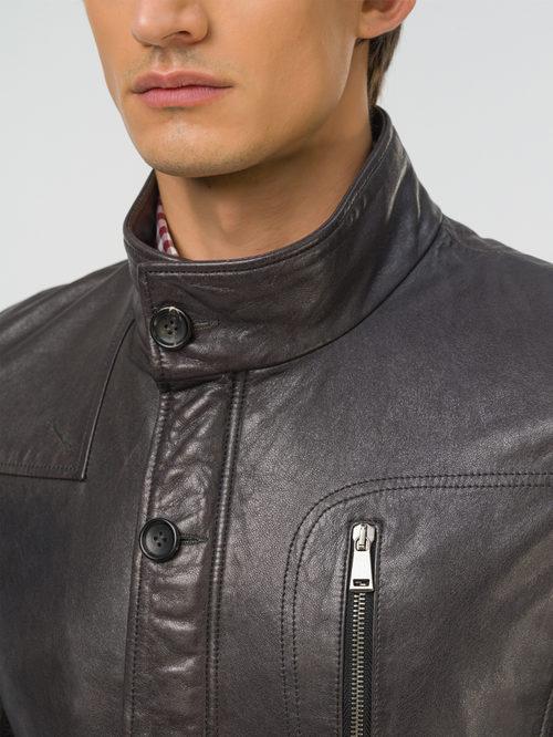 Кожаная куртка артикул 14809991/48 - фото 3